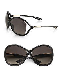 Tom Ford Eyewear Whitney Polarized Injected Sunglasses