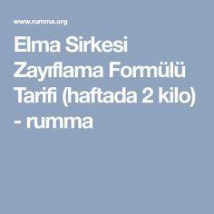 Elma Sirkesi Zayıflama Formülü Tarifi (haftada 2 kilo) - rumma