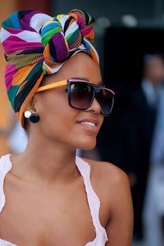 summer hair wraps 36 Head Wrap Styles That Can Turn Any Bad Hair Day Into A Day Of Glam [Gallery] Mode Turban, Hair Turban, Hair Wigs, Hair Wrap Scarf, Scarf Head Wraps, Curly Hair Styles, Natural Hair Styles, Twisted Hair, Head Scarf Styles