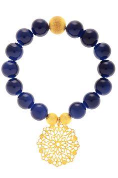 Navy blue + gold