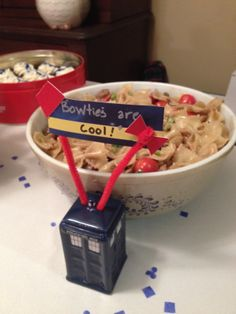 "Doctor Who Party: ""Bowties are Cool"" Pasta"