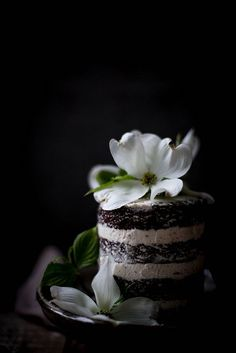 rich, moist chocolate lavender cake with mascarpone earl grey german buttercream by Beth Kirby | {local milk}