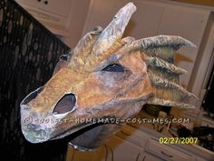 Original Homemade Winged Dragon Halloween Costume ... This website is the Pinterest of costumes  love the head