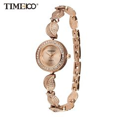 995d6285afd Watches Quartz Watch Stainless Steel Leaf gold Bracelet