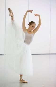 Natascha Kusch rehearsing Giselle. The Australian Ballet. Photography by Lynette Wills.