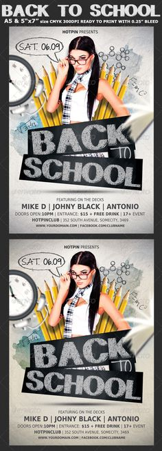 Back to School Party Flyer Template 5