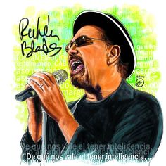 Ruben Blades, Puerto Rican Music, Musica Salsa, Salsa Music, Puerto Rican Culture, Celebrity Caricatures, Latin Music, Puerto Ricans, Shakira