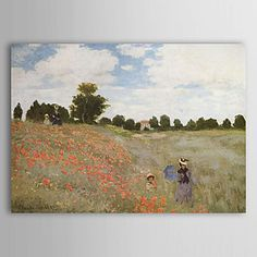 Hand-painted Oil Painting by Claude Monet with Stretched Frame – USD $ 79.99
