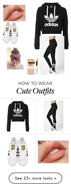 """""""Brett's outfit"""" by priscilla-ramiez on Polyvore featuring Topshop, adidas Originals, adidas and Bobbi Brown Cosmetics"""