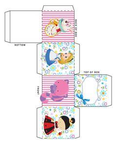 CAIXA Alice In Wonderland Printables, Alice In Wonderland Crafts, Barbie Dolls Diy, Diy Doll, Paper Doll House, Paper Dolls, Diy Best Friend Gifts, Diy Gift Box, Arts And Crafts