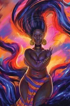 Black Love Art, Black Girl Art, Art Girl, Sexy Black Art, Black Art Painting, Black Artwork, Black Goddess, Goddess Art, Drawings Of Black Girls