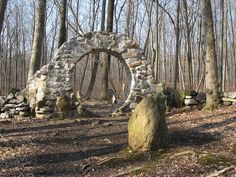 Pennsylvania - Columcille Megalith Park in Bangor Oh The Places You'll Go, Places To Travel, Places To Visit, Travel Destinations, Isle Of Iona, To Go, Mysterious Places, Abandoned Places, Abandoned Castles