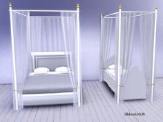 Set of elegant Curtains and Canopy's matching Double Beds and Single Beds Found in TSR Category 'Sims 4 Decorative Sets'