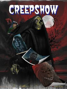 """Creepshow"" by Laz Marquez All Horror Movies, Horror Movie Characters, Classic Horror Movies, 1980's Movies, Horror Movie Posters, Movie Poster Art, Arte Horror, Horror Art, Horror Icons"
