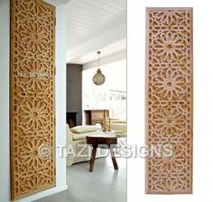 Moroccan Lattice Woodwork by Tazi Designs custom fabrication shop http://www.tazidesigns.com/catalog/architectural/woodPanels/1736