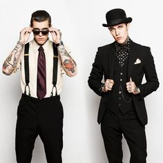 I would totally do both of these outfits. I think I'd prefer the one with the hat but I could totally pull both of these off