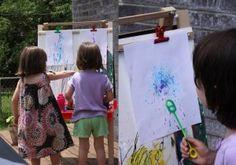 Bubbles and Art = Favorite Preschooler Craft Letter B Activities, Fun Activities For Kids, Creative Activities, Preschool Activities, Kid Activites, Outdoor Activities, Bubble Painting, Bubble Art, Preschool Arts And Crafts