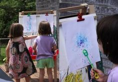 Bubbles on the easel...