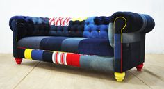 JEAN PATCH  denim chesterfield patchwork sofa