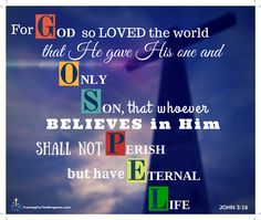 For God so loved the world that he gave