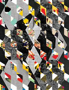 Collage Meets Pattern   Madame Gilles inspiration - This shows a way I can create a pattern out of a collage