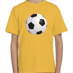 Camiseta infantil pelota fútbol color