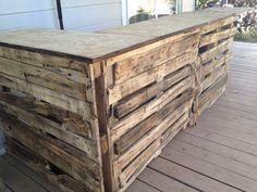 Build A Tiki Bar | Pallet tiki bar, lets add this to my Tiki Bar idea list,