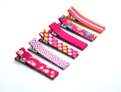 Baby Hair Clips Pink Pizazz Clippies for Babies Toddlers Children - Set of Six Clips