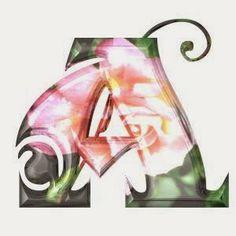 Alfabeto con flores insinuadas.