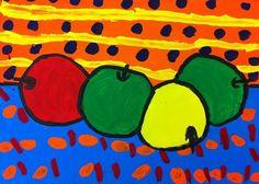 1st grade Cezanne inspired still life