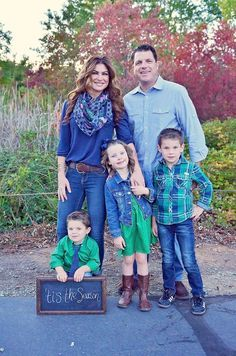 Like the green/denim combo Fall Family Photos