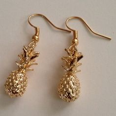 Earring Beautiful drop earring pineapple gold plated earring jewelry.(NEW) No Trades. No Holds. No PayPal. Jewelry Earrings