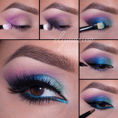 Pin by kristina rivera on makeup inspirations хайлайтер макияж, макияж, мак Eye Makeup Steps, Eye Makeup Art, Beauty Makeup Tips, Smokey Eye Makeup, Diy Makeup, Eyeshadow Makeup, Eyeliner, Eyeshadow Palette, Makeup Ideas