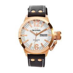 TW Steel Men's CE1017 CEO Canteen Brown Leather White Dial Watch TW Steel. $454.82. Mineral crystals; White dial; Quartz movement; Water-resistant to 330 feet (100 M); Rose gold plated steel case brown leather band