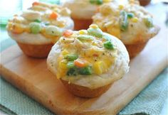 Single Serving Pot Pie Cupcakes - Possible Good Use For Leftovers