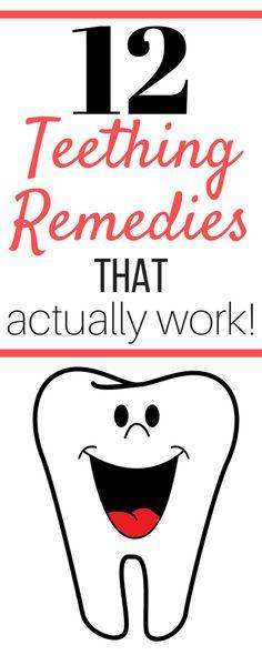 12 Teething Remedies That Actually Work! | justsurvivingmotherhood.com