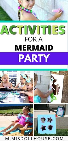 Games for a Mermaid Party that will make a splash!    If you are throwing a Mermaid Party....you need some amazing mermaid party games! Celebrating a fabulous birthday party with a mermaid theme is made so much more adorable and fun with some games that are themed to match.    Check out these ideas for mermaid party activities...   #mermaid #partygames #party #parties #partyideas #ocean #underthesea #girlbirthday #summerparty #summer