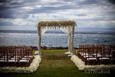 A dramatic wedding ceremony site for a Maui spring wedding @Four Seasons Bridal   Photo credit @Karl Bradford Photography