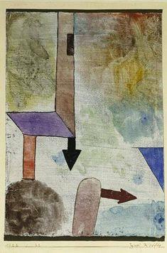 Paul Klee, Zwei Kräfte (Deux forces), 1922