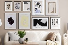 Jak urządzić salon? Zobacz u nas Good Vibes Only, Gallery Wall, Frame, Home Decor, Drawing Rooms, Homemade Home Decor, A Frame, Frames, Hoop