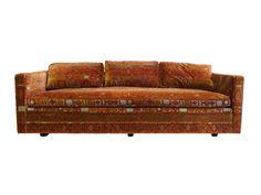 Mid-Century Dunbar-Attributed Sofa with #JackLenorLarsen fabric on Chairish.com