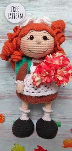 Crochet Dolls Free Patterns, Crochet Doll Pattern, Amigurumi Patterns, Crochet Designs, Doll Patterns, Clothes Patterns, Crochet Gifts, Cute Crochet, Crochet Toys