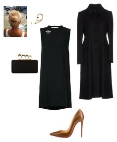 """""""Evening"""" by cgraham1 on Polyvore featuring Aula, Christian Louboutin, Alexander McQueen, Xiao Wang, Prada and Gucci"""