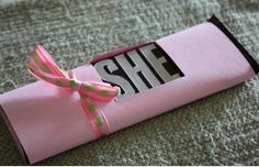 Hershey Bar Gender Reveal | Click Pic for 35 DIY Baby Shower Ideas for Girls| DIY Baby Shower Party Favors for Girls