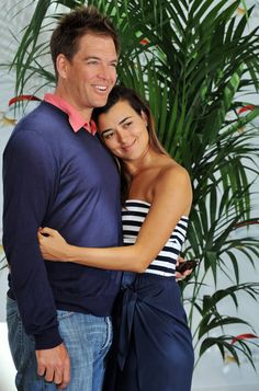 Cote de Pablo and Michael Weatherly