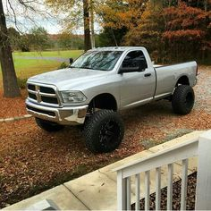 I Love Lifted Trucks — poweredbydiesel:   Don't see many regular cabs any...
