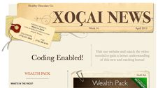 This weeks Newsletter is now available. To download your copy, please visit http://www.healthychocolateco.com/company/xonews .