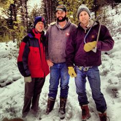 Dad. Cousin. Me. Hunters of the lonely and broken trees.