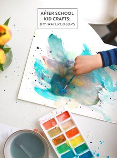 After School Kid Crafts: Quick DIY Watercolors