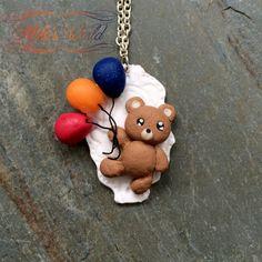 #Kawaii #TeddyBear #Cameo made out of #polymerclay / #fimo avaible on #Etsy